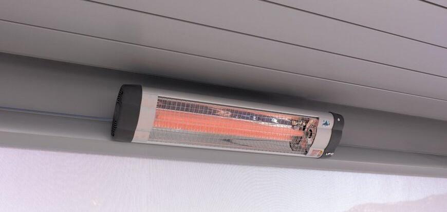 chauffage par lampe infrarouge pour pergola