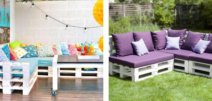 créer des meubles et salons de jardin en palette