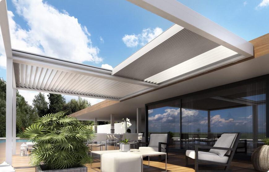 pergola bioclimatique rétractable de terrasse