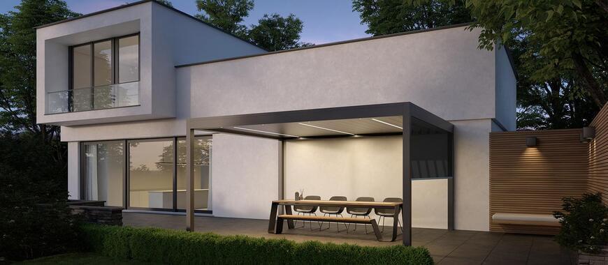 pergola terrasse de maison