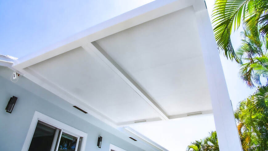 toiture fixe blanche pergola azenco r shade